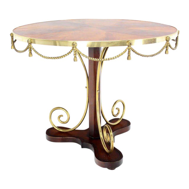 Early 20th Century Vintage Neoclassical Bronze Ormolu Center Table For Sale - Image 9 of 9