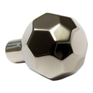Facet-02 Polished Nickel Knob For Sale