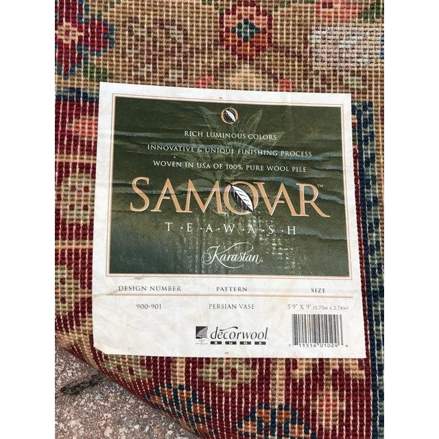 Textile Karastan Wool Samovar Tea Wash Rug-5′9″ × 9′ For Sale - Image 7 of 8