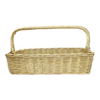 Vintage Hollywood Regency Wicker Basket