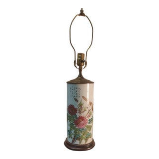 Qianjiang Porcelain Hat Stand Qing Dynasty Lamp For Sale