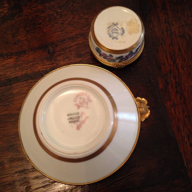Vintage Limoges Ashtray & Box - A Pair For Sale In Nashville - Image 6 of 7