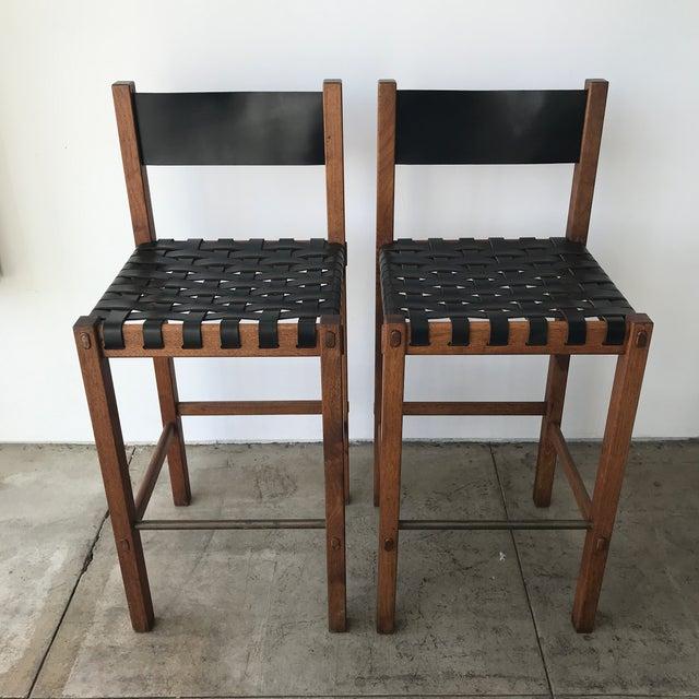 Pair of rare bar stools designed by Craig Nealy (aka Robert Barron) for Glenn of California c. 1960s.