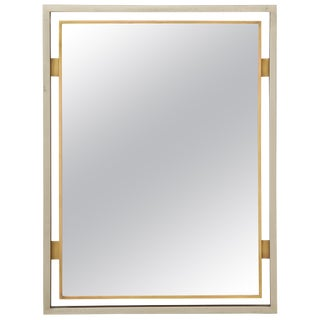 Modernist Mirror by Guy Lefevre for Maison Jansen, France, 1970s For Sale