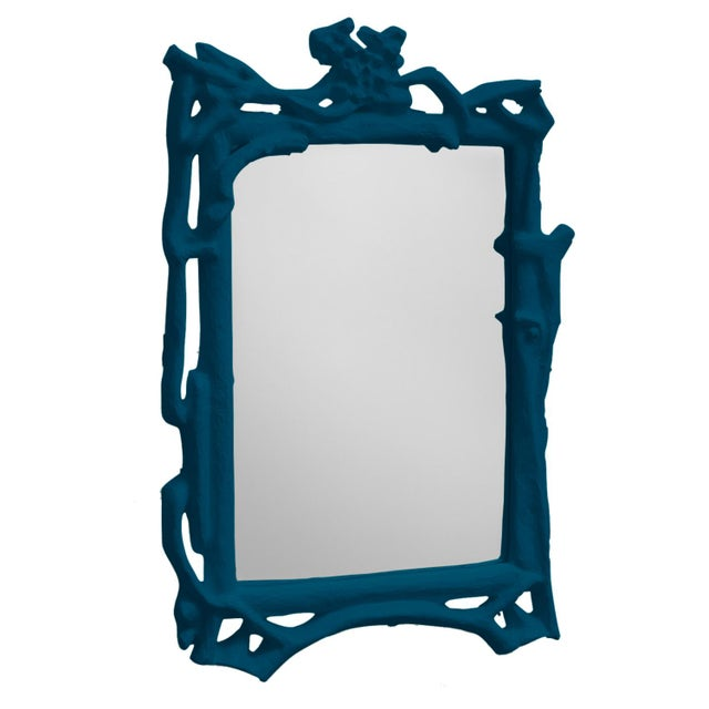 Contemporary Stray Dog Designs for Chairish Magalie Mirror, Deep Blue For Sale - Image 3 of 3