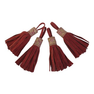 Fortuny Red Tassels - Set of 4 For Sale