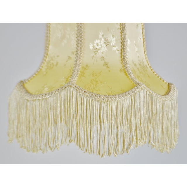 Fabric Vintage Victorian Style Bell Shaped Fringe Lamp Shade For Sale - Image 7 of 13