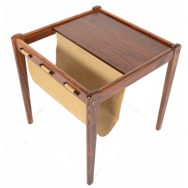 Bent Silberg Danish Modern Rosewood Side Table - Image 2 of 7