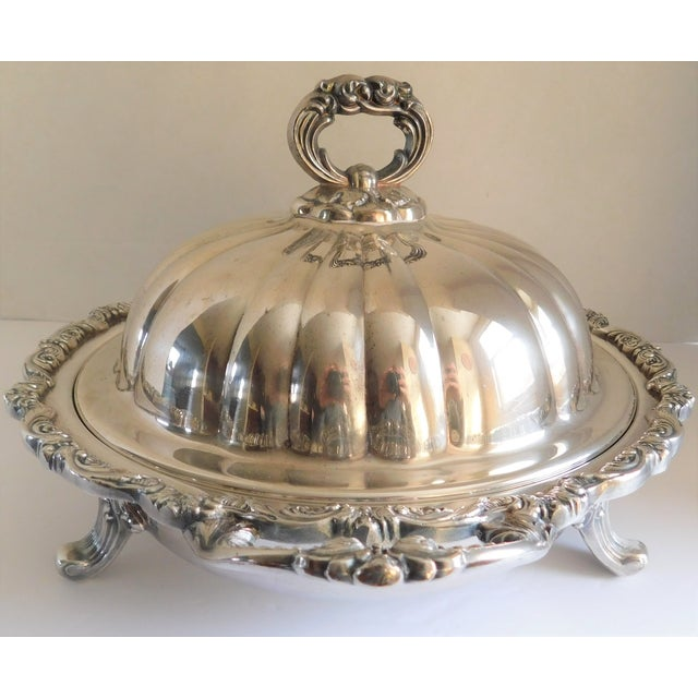 Silver Poole Silver Co. Heavy Silverplate Casserole Dish For Sale - Image 8 of 12