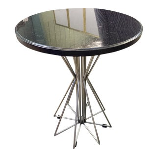 Industrial Round Side Table For Sale
