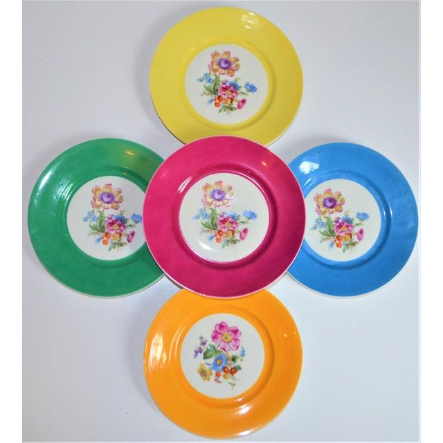 Vintage Richard Ginori Italian Botanical Porcelain Plates - Set of 5 For Sale - Image 10 of 12