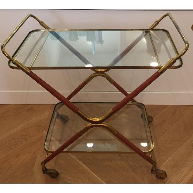 1950s Italian Cesare Lacca Bar Cart Server For Sale - Image 11 of 11