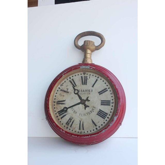 Amazing large antique double sided pocket watch trade sign.