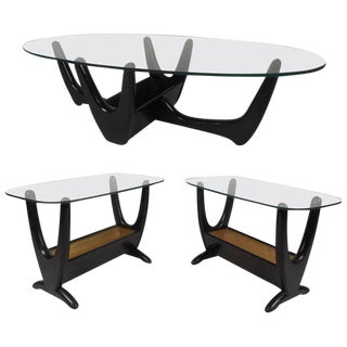 Set of Mid-Century Modern Glass Top Tables by Tonk Manufacturing Company For Sale