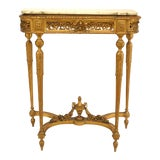 Image of French Louis XVI Style '19th Century' Gilt Console Table For Sale