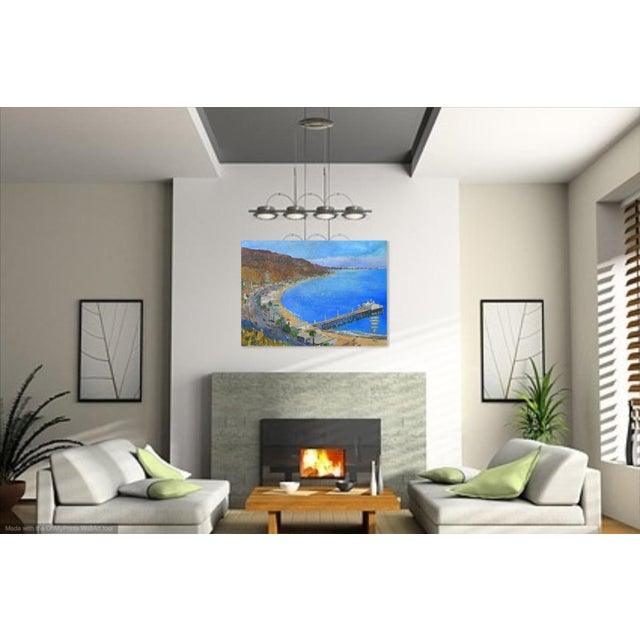 """2010s """"Malibu Pier, California"""" Contemporary Oil Painting by Martha Holden For Sale - Image 5 of 8"""