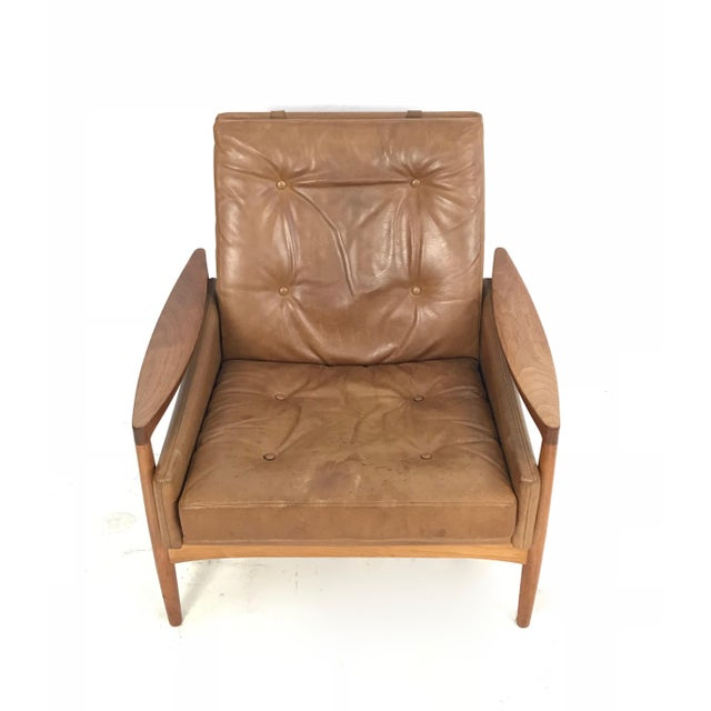 Mid-Century Modern 1960s Vintage Erik Worts Danish Armchair For Sale - Image 3 of 13