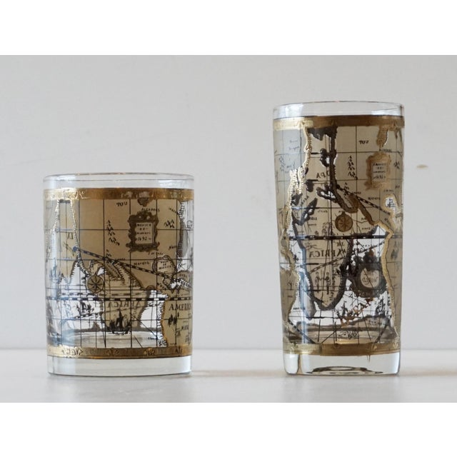Cera old world map glasses set of 16 chairish cera old world map glasses set of 16 image 7 of 7 gumiabroncs Image collections