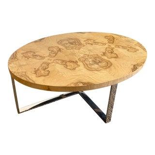 Modern Kravet Norbro Burl Coffee Table For Sale