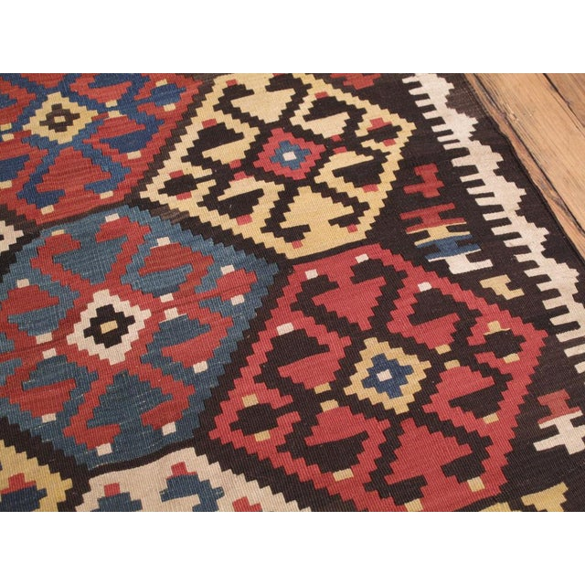 Red Antique Shahsavan Kilim For Sale - Image 8 of 9