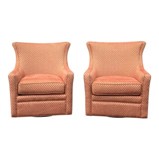 Jessica Charles Delta Swivel Chairs - a Pair For Sale