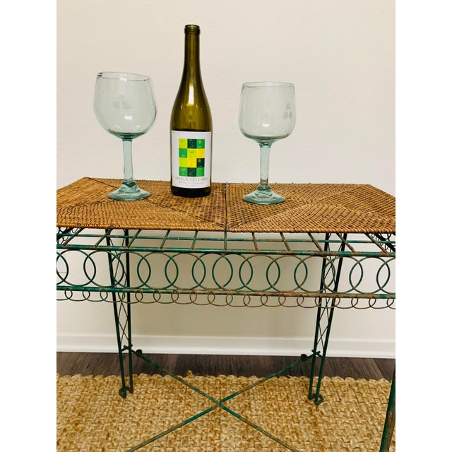 Victorian Iron Scroll Garden Patio Table With Tray For Sale - Image 10 of 13