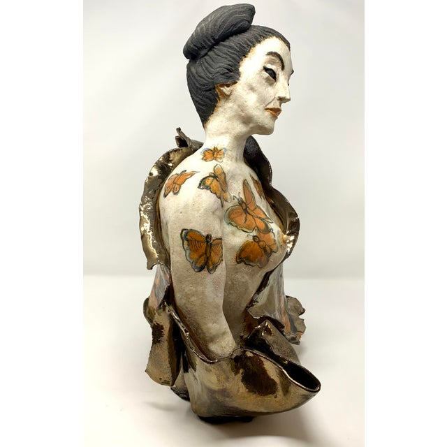 Asian Late 20th Century Theo Samuels Japanese Woman Sculpture For Sale - Image 3 of 13