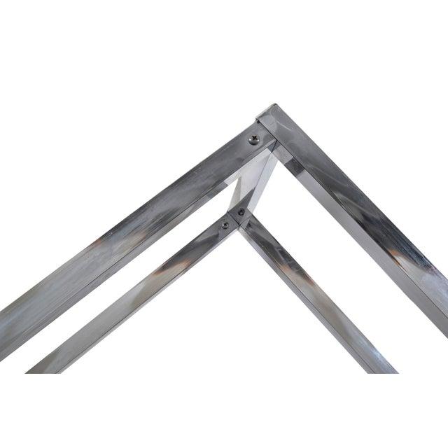 Mid-Century Modern 1970s Chrome Geometric Diamond Shaped Etagere For Sale - Image 3 of 9