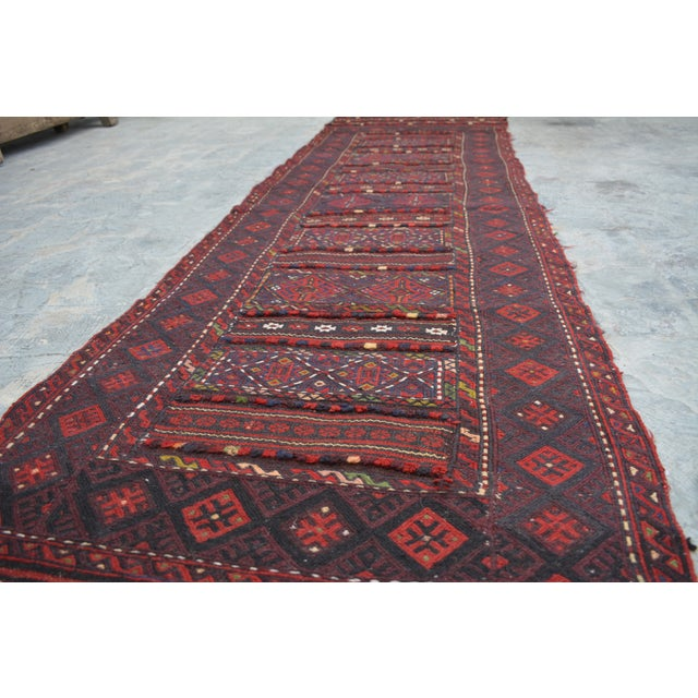 "Textile Afghan Soumak Tribal Kilim Runner-2'3'x9'11"" For Sale - Image 7 of 11"