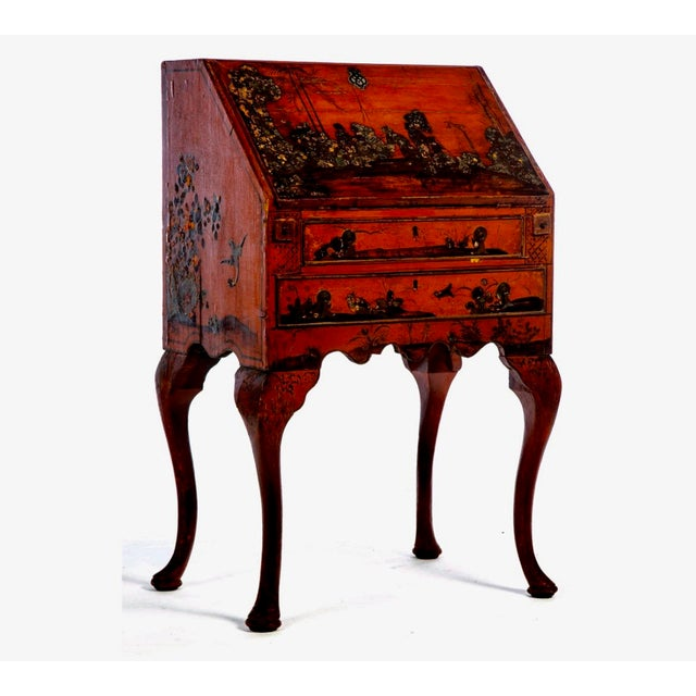Late 19th Century Late 18th Century Queen Anne Style Chinoiserie Secretary Desk For Sale - Image 5 of 6