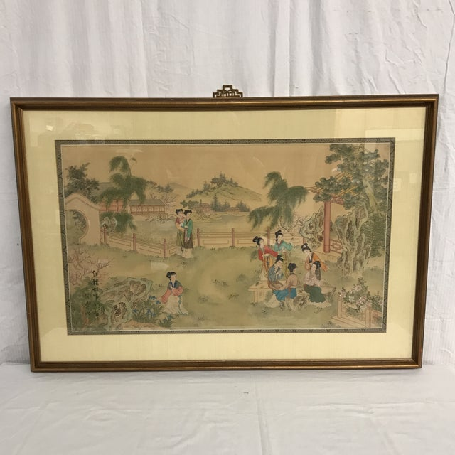 Chinese Pastoral Scene on Silk - Image 9 of 9