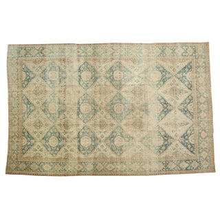 "Vintage Distressed Sivas Carpet - 7'8"" X 12' For Sale"