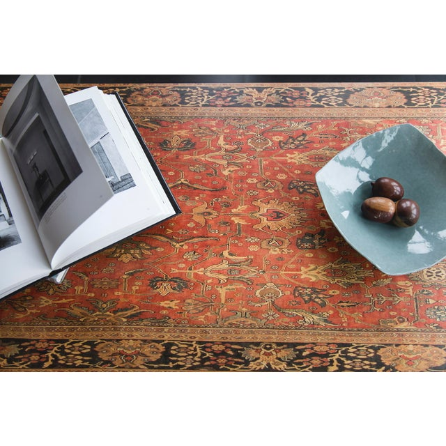 Lamou Persian Rug Printed Bentwood Coffee Table For Sale In Providence - Image 6 of 7