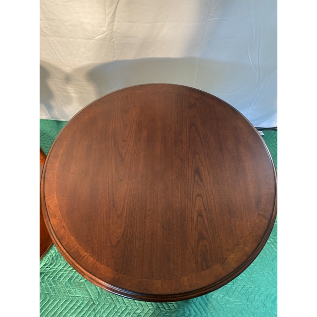 2000 - 2009 Drexel Heritage Round Occasional Tables - a Pair For Sale - Image 5 of 8