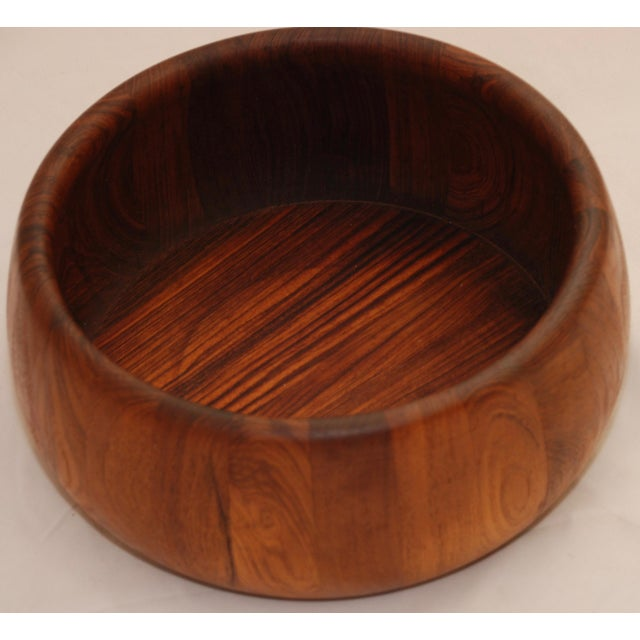 Mid-Century Modern Teak Salad Bowl - Image 10 of 11