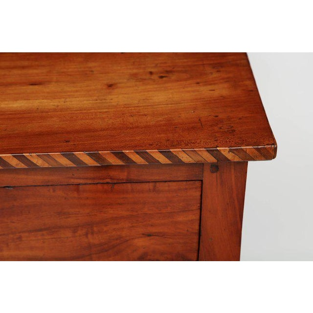 Late 18th Century 18th Century Italian Cherry Table With Parquetry Border and Two Drawers For Sale - Image 5 of 10