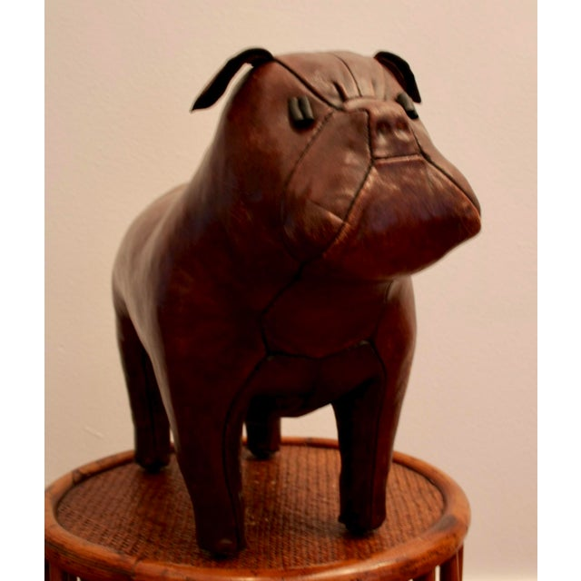 1970s Abercrombie and Fitch Dimitri Omersa Leather Bulldog For Sale - Image 5 of 12