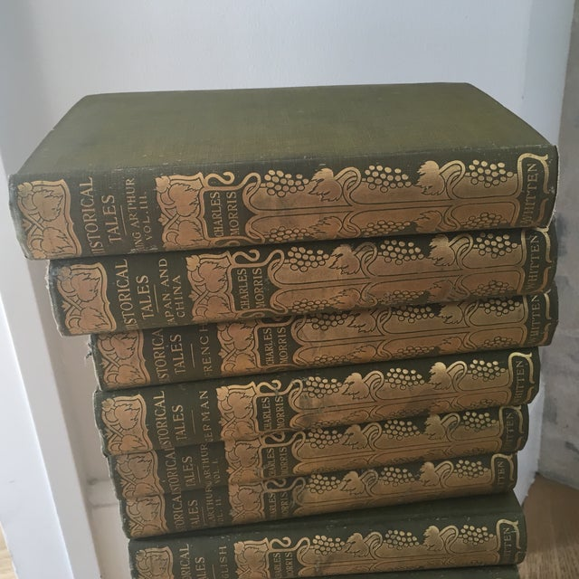 Antique 1904 Set of Green and Gold Books - 14 - Image 8 of 8