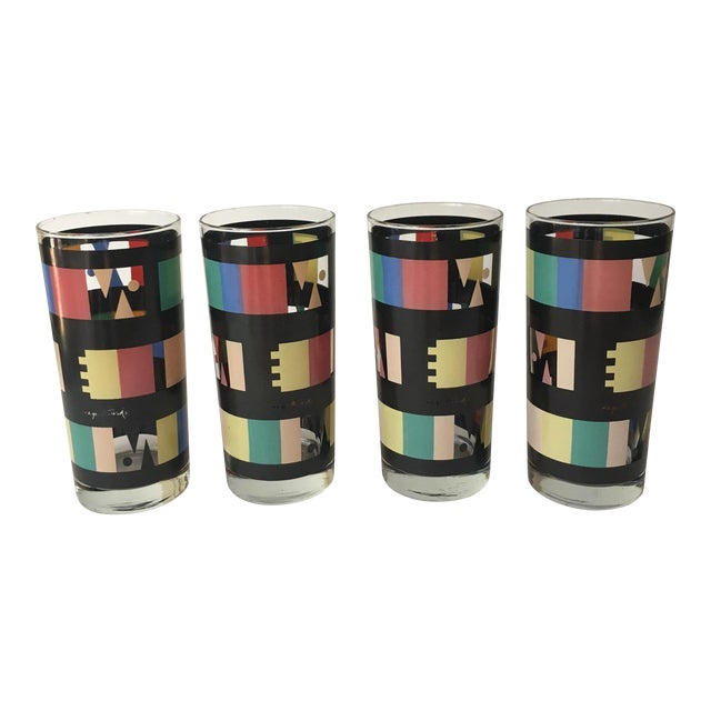 Georges Briard Mid-Century Modern Glasses - Set of 4 - Image 1 of 7