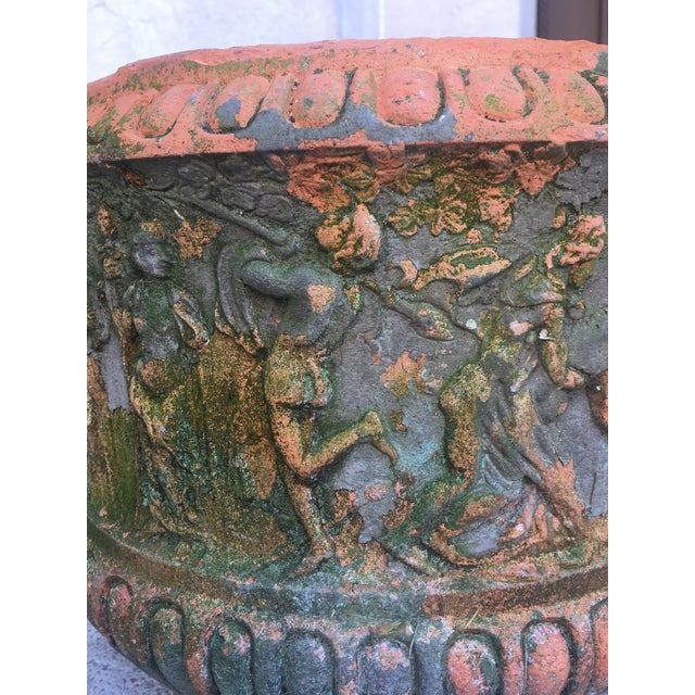 Blue High Relief Italian Terracotta, Circa 1900 For Sale - Image 8 of 9