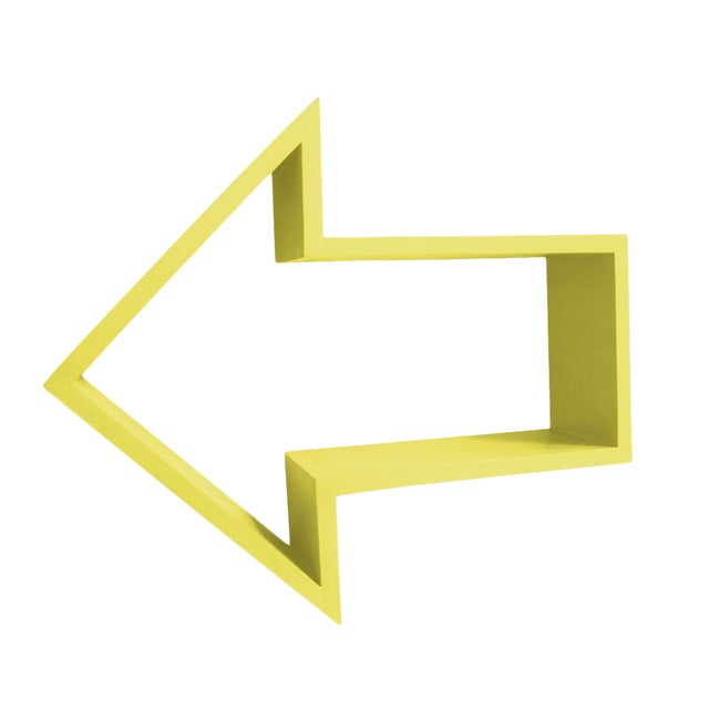 Arrow Shelf Yellow For Sale