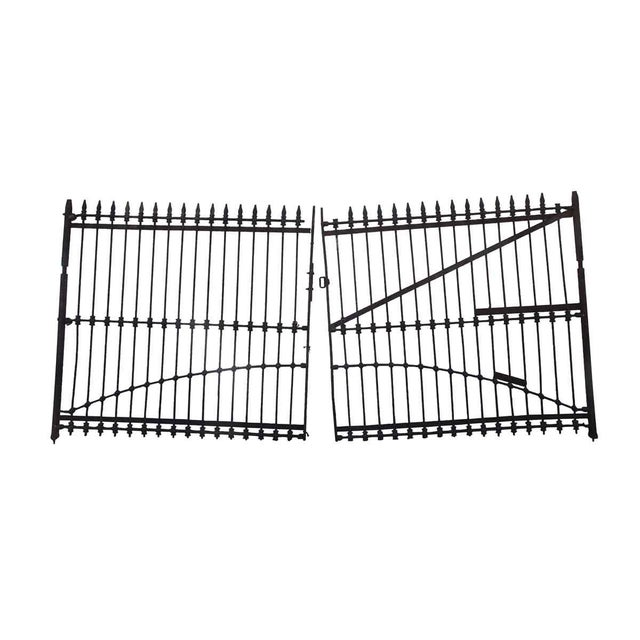 1800s Forged Iron Dual Driveway Gates - a Pair For Sale - Image 10 of 10
