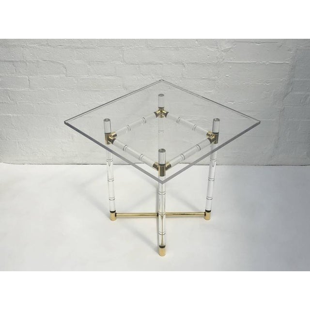 Polished Brass and Faux Bamboo Center Table by Charles Hollis Jones - Image 10 of 10
