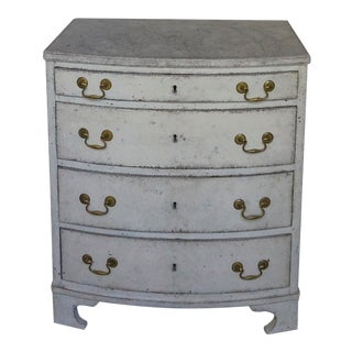 Swedish Bow Front Commode With 4 Drawers For Sale