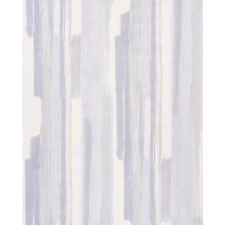 Sample - Schumacher Watercolor Wallpaper in Soft Lilac For Sale