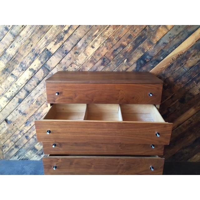 Vintage Stanley Walnut Highboy Dresser - Image 8 of 8