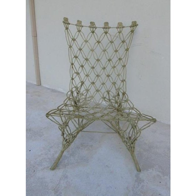 This is a rare Marcel Wanders Droog design knotted chair. The piece is from the 1990s.