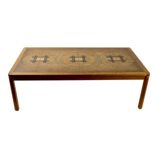 Danish Tile Top Coffee Table by Uldum For Sale