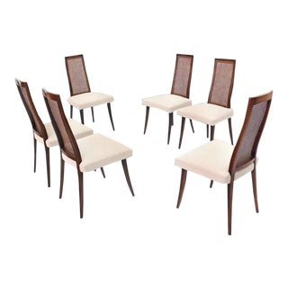 Set of 6 Mid Century Modern Vintage Harvey Probber Dining Chairs For Sale