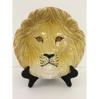 Larger- Italian Mid-Century Modern Golden Lion Bowl Preview